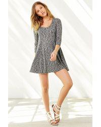 BDG Gray Camp Sweater Dress