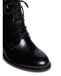 Sam Edelman Black 'jardin' Lace-up Leather Boots