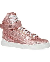 Givenchy Pink Glitter High-top Sneaker