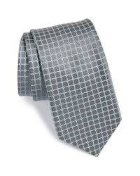 Michael Kors Gray 'griddle Neat' Check Silk Tie for men