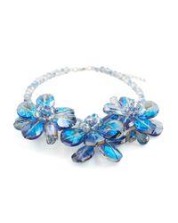 James Lakeland | Blue 3d Glass Floral Necklace | Lyst