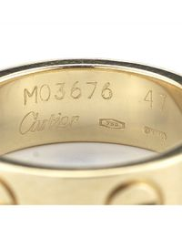 Cartier - Pink Pre-owned 18ky Love Ring - Lyst