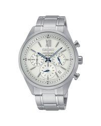 Seiko Metallic Ssb153p1 Men's Chronograph Stainless Steel Bracelet Watch for men