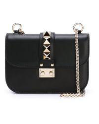 Valentino   Black Rockstud Crossbody Bag   Lyst