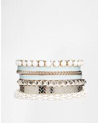 Oasis | Green Enamel & Mesh Multipack Bracelet | Lyst