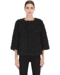 Colmar | Black Reversible Nylon & Faux Fur Down Jacket | Lyst