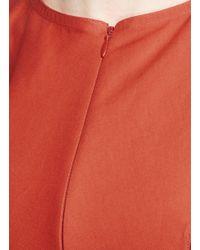 Alaïa Red 'ecarlate' Ladder Stitch Stripe Dress