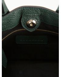 Burberry Green Banner Small Calf-Leather Tote
