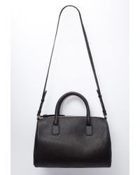 Forever 21 | Black Faux Leather Satchel | Lyst