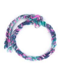 The Elder Statesman - Blue Woven Wrap Bracelet - Lyst