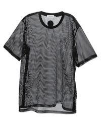 Common Black Eli Mesh T-Shirt for men