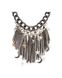 Ziba Metallic Persephone Statement Necklace