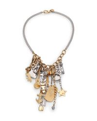 Marc By Marc Jacobs - Metallic Heavy Metal Statement Necklace - Lyst