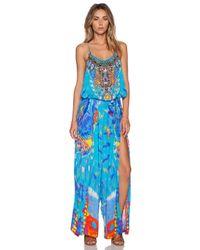 Camilla | Blue Shoestring Strap Jumpsuit | Lyst
