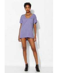 Truly Madly Deeply - Purple Scoopneck Slouch Pocket Tee - Lyst