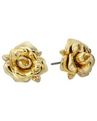 Marc By Marc Jacobs | Metallic Jerrie Rose Metal Stud Earrings | Lyst