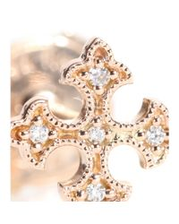 Stone Metallic Passion Button 18kt Rose Gold Single Earring With Diamonds