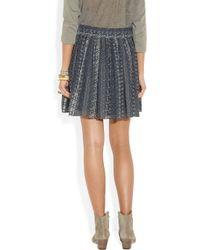 Vanessa Bruno Blue Printed Silk georgette Skirt
