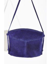 Kimchi Blue | Blue Suede Crossbody Bag | Lyst