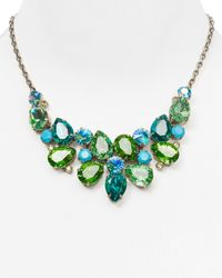 Sorrelli | Blue Crystal Rock Necklace, 17.25"