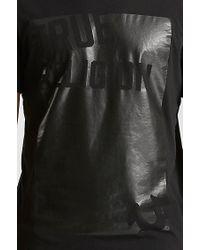 True Religion | Black Handpicked Cut Out Crew Neck Mens T-shirt for Men | Lyst