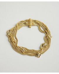 David Yurman | Metallic Gold and Diamond Quatrefoil Multi Strand Bracelet | Lyst