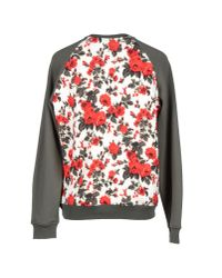 MSGM - Green Floral Sweatshirt for Men - Lyst