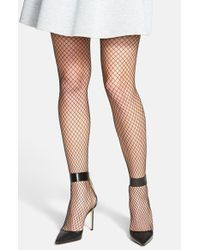 Hue | Black 'super' Fishnet Tights | Lyst