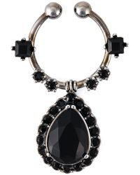 Givenchy | Black Teardrop Nose Ring | Lyst