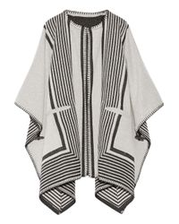 M.i.h Jeans - White Oversized Reversible Wool-blend Wrap - Lyst