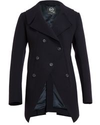 McQ Blue Tailored Wool Peacoat