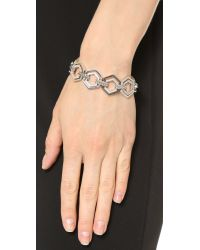 Eddie Borgo Metallic Pave Lattice Bracelet - Silver
