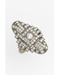 Kwiat | White 'vintage' Oval Diamond Ring | Lyst