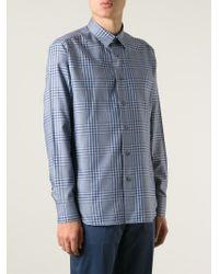 Brioni | Blue Plaid Shirt for Men | Lyst