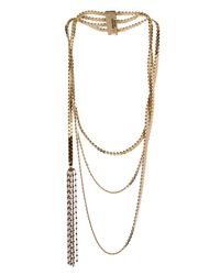 Rosantica By Michela Panero - Metallic Aspide Three Layers Brass Chain Necklace - Lyst