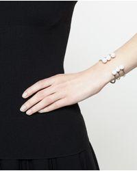 Maria Stern Metallic Triple Pearl Horseshoe Bracelet
