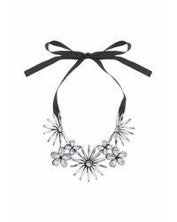 TOPSHOP - Black Mega Flower Collar - Lyst