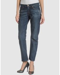 J Brand | Blue Denim Trousers | Lyst