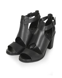 TOPSHOP - Black Gambas Cut-Out Shoes - Lyst