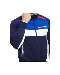 Polo Ralph Lauren | Blue Polo Sport Colorblocked Track Jacket for Men | Lyst