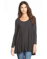 Lush | Black Long Sleeve Swing Tee | Lyst