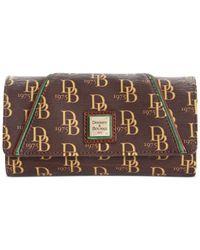 Dooney & Bourke Brown Sutton Harper Wallet