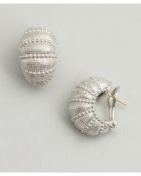 Judith Ripka - Metallic Silver Concorde Shrimp Earrings - Lyst