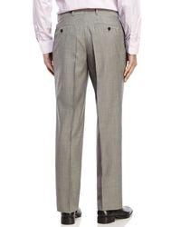 BOSS - Gray Flat Front Wool Dress Pants for Men - Lyst