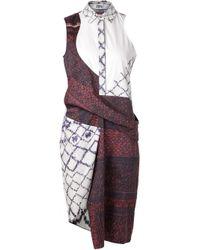 Prabal Gurung Multicolor Side Sash Dress