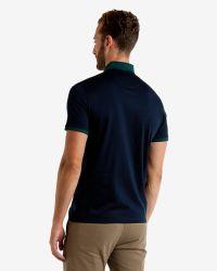 Ted Baker | Blue Colour Block Polo Shirt for Men | Lyst