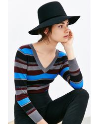 Urban Outfitters - Black High Crown Felt Panama Hat - Lyst