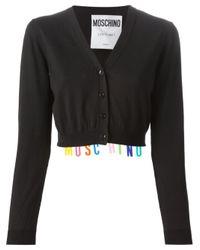 Moschino | Black Logo Letter Cardigan | Lyst