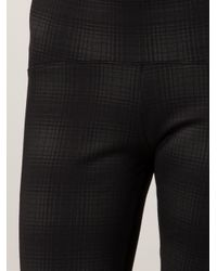 Getting Back to Square One Gray Plaid Legging Trousers