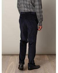 E. Tautz - Blue Corduroy Trousers for Men - Lyst